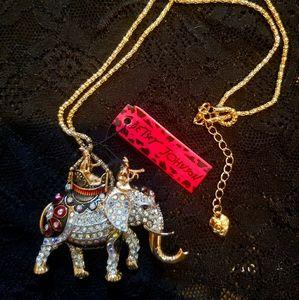 Betsey Johnsin Elephant Necklace